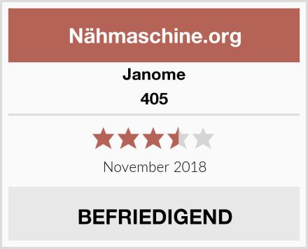 Janome 405 Test