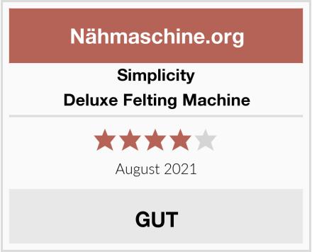 Simplicity Deluxe Felting Machine Test