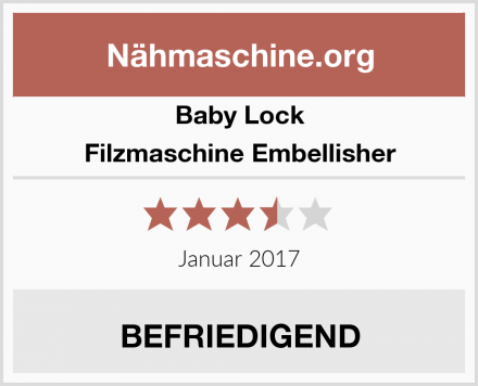 Baby Lock Filzmaschine Embellisher Test