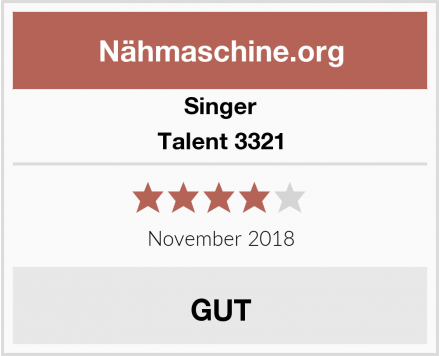 Singer Talent 3321 Test
