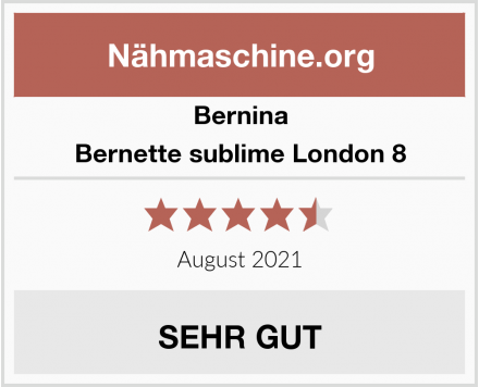 Bernina Bernette sublime London 8 Test
