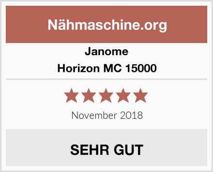 Janome Horizon MC 15000 Test
