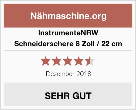 InstrumenteNRW Schneiderschere 8 Zoll / 22 cm Test