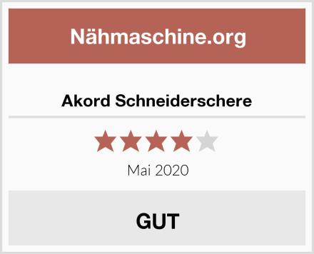 Akord Schneiderschere Test