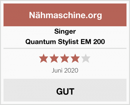 Singer Quantum Stylist EM 200 Test