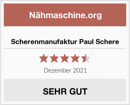 No Name Scherenmanufaktur Paul Schere Test