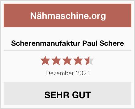 Scherenmanufaktur Paul Schere Test
