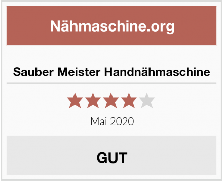 No Name Sauber Meister Handnähmaschine Test