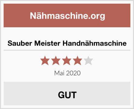 Sauber Meister Handnähmaschine Test