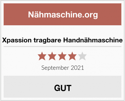 Xpassion tragbare Handnähmaschine Test