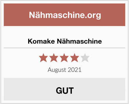 No Name Komake Nähmaschine Test