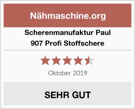 Scherenmanufaktur Paul 907 Profi Stoffschere Test