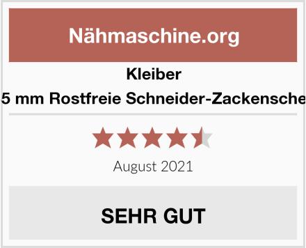 Kleiber 235 mm Rostfreie Schneider-Zackenschere Test