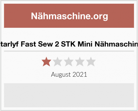No Name Starlyf Fast Sew 2 STK Mini Nähmaschine Test