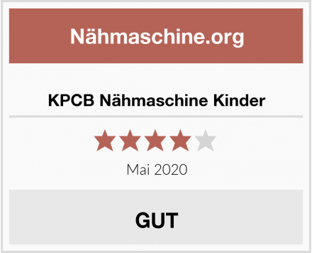KPCB Nähmaschine Kinder Test