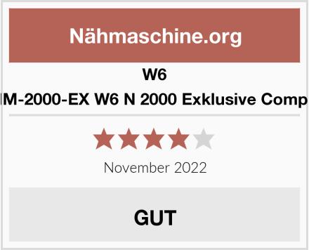 W6 WERTARBEIT W-NM-2000-EX W6 N 2000 Exklusive Computer-Nähmaschine Test