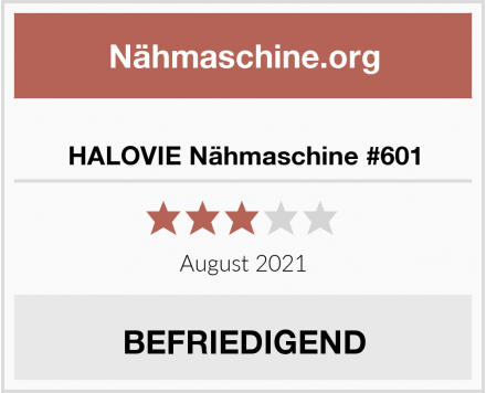 HALOVIE Nähmaschine #601 Test