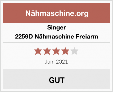 Singer 2259D Nähmaschine Freiarm Test