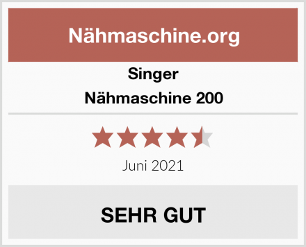 Singer Nähmaschine 200 Test