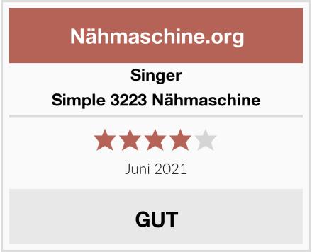Singer Simple 3223 Nähmaschine Test