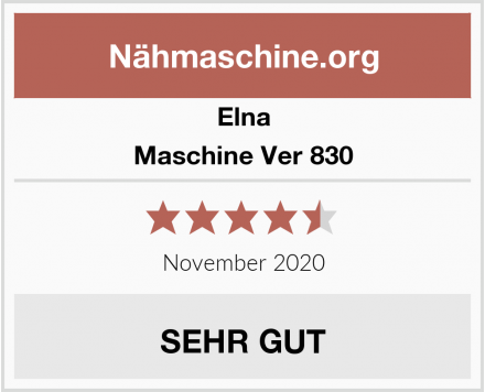 Elna Maschine Ver 830 Test