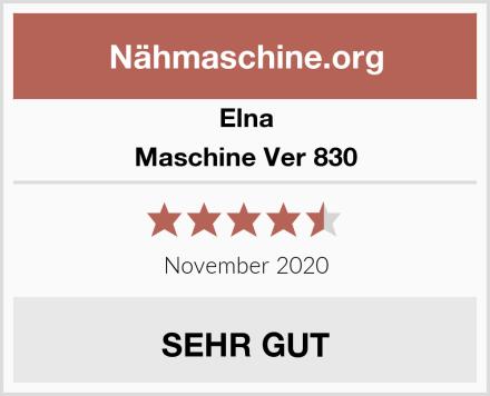 Elna Maschine Ver 830 Test