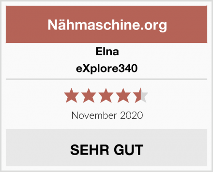 Elna eXplore340 Test
