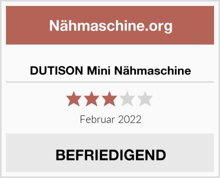 DUTISON Mini Nähmaschine Test