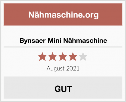 Bynsaer Mini Nähmaschine Test