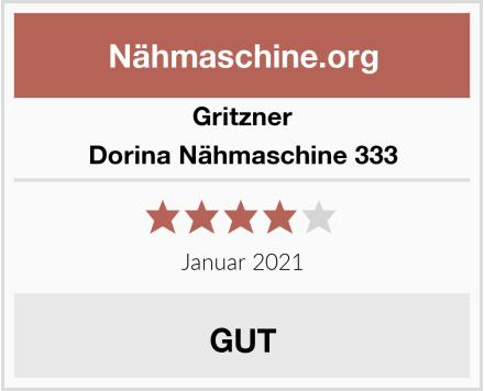 Gritzner Dorina Nähmaschine 333 Test