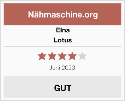 Elna Lotus Test