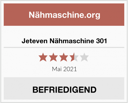 Jeteven Nähmaschine 301 Test