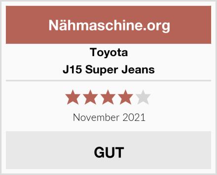 Toyota J15 Super Jeans Test