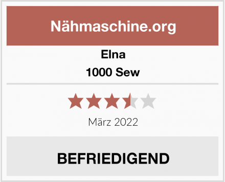Elna 1000 Sew Test