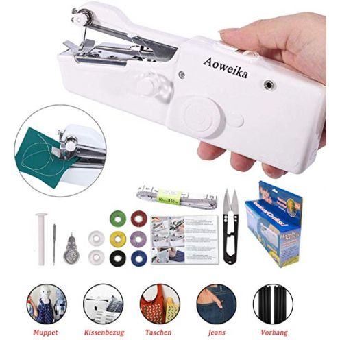 Aoweika Mini Handheld Nähmaschine